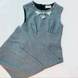 🛍Ports1961 Wool Dress with beaded neckline